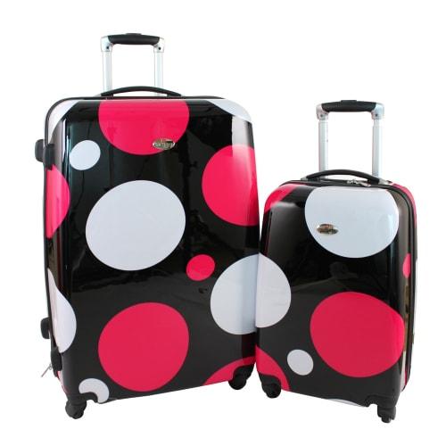 OPEN BOX Swiss Case 4W 2pc Suitcase Set Disco