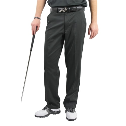 Woodworm DryFit Flat Front Golf Trousers Black