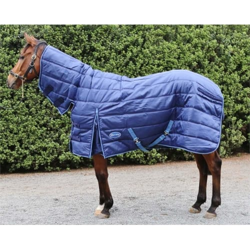 """OPEN BOX Barnsby Stable Rug-420D Oxford-200g-with Neck-Navy 78"""""""