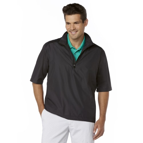 Callaway Gust Short Sleeve 1/4 Zip WindShirt Black