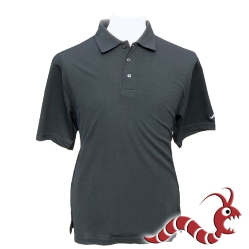 Woodworm Golf Plain Polo Shirt - Black