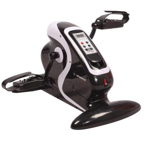 OPEN BOX Confidence Fitness Motorized Electric Mini Exercise Bike Black / White