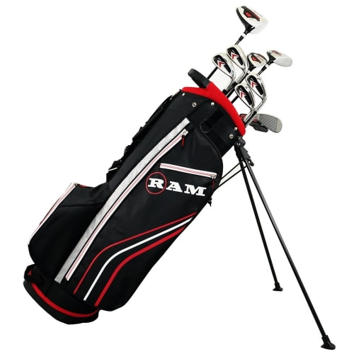 Ram Golf Accubar 1 Inch Longer 12pc Golf Clubs Set - Graphite Shafted Woods, Steel Shafted Irons - Mens Right Hand