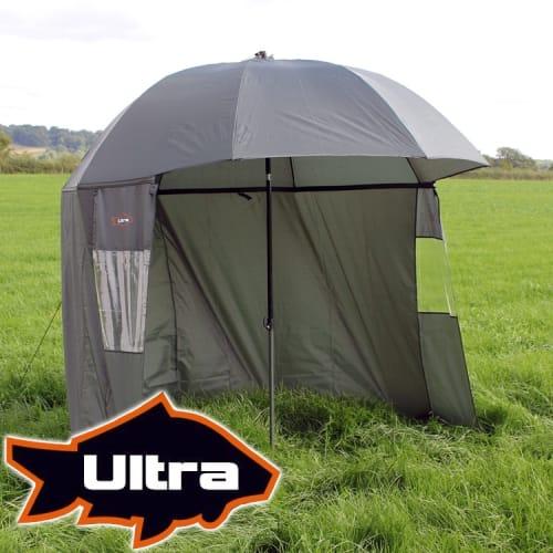 Ultra Fishing 2.2m Umbrella w/ Zip Sides Windows