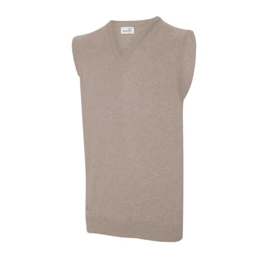 Ashworth Mens V Neck Lambswool Slip Over Vest