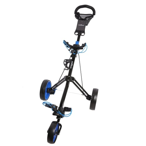 Caddymatic Golf Pro Lite 3 Wheel Golf Trolley Black/Blue