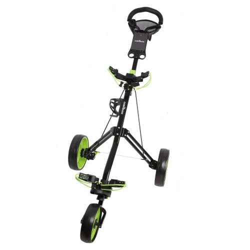 Caddymatic Golf Pro Lite 3 Wheel Golf Trolley Black/Green