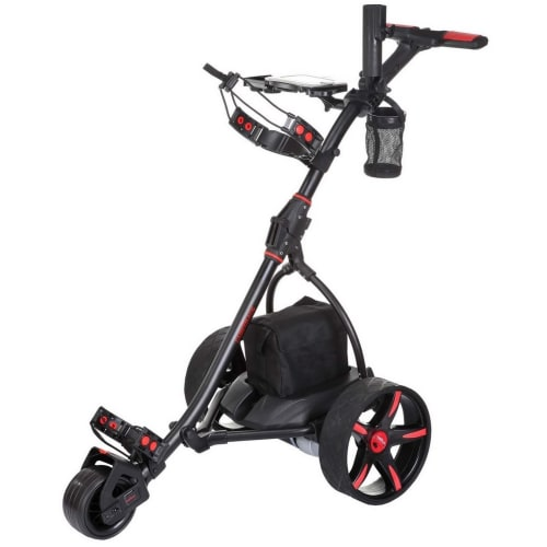 Caddymatic V2 Electric Golf Trolley / Cart With 36 Hole battery With Auto-Distance Functionality Black