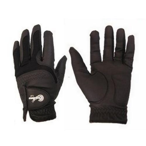 Confidence All Weather Mens Left Hand Golf Gloves 3 Pack, Black
