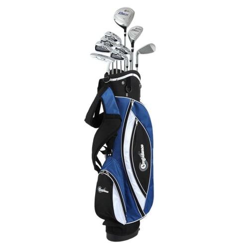 Confidence Golf Power V3 +1 Inch Mens Golf Club Set and Stand Bag