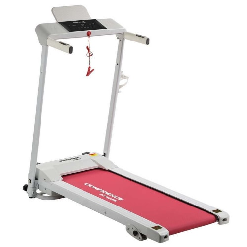 Confidence Fitness Ultra 200 Treadmill Electric Motorized Running Machine White/Pink