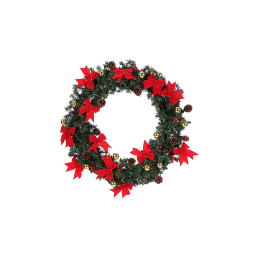 "Homegear 30"" Decorated Christmas Wreath W/ Lights"