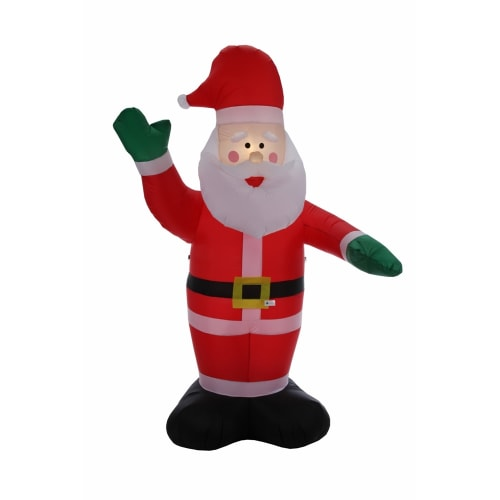 Homegear Christmas 6ft Inflatable Santa For Indoor/Outdoor Use with LED Lights