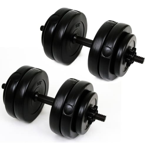 Palm Springs 30kg Vinyl Dumbbell Weight Set Black