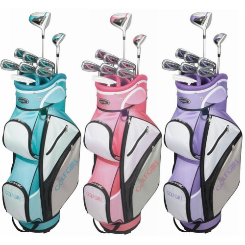 GolfGirl FWS3 Ladies Golf Clubs Set with Cart Bag, All Graphite, Left Hand