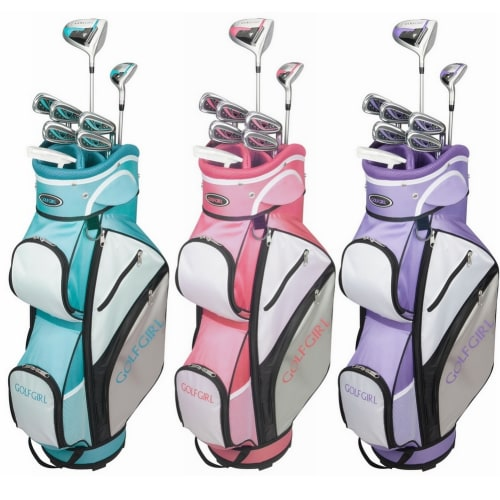 GolfGirl FWS3 Ladies Petite Golf Clubs Set with Cart Bag, All Graphite, Left Hand