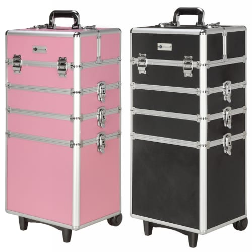 Homegear Professional Cosmetics Wheeled Makeup Train Case