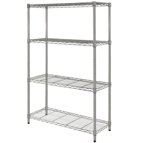 Homegear 4-Shelf Shelving Unit – Chrome