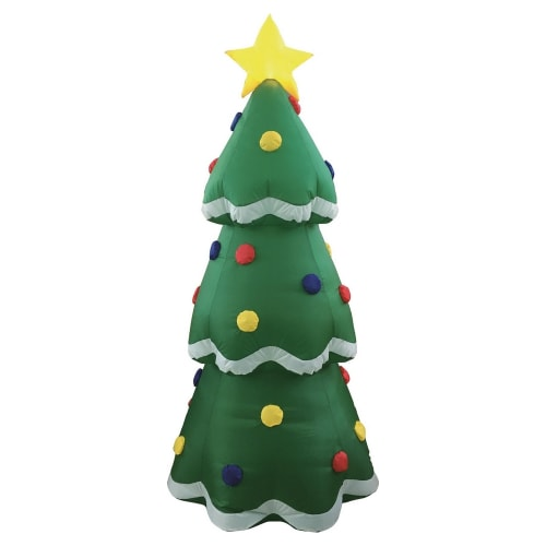 Homegear Christmas 6ft Inflatable Tree For Indoor/Outdoor Use with LED Lights