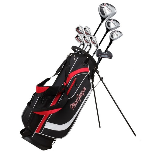 MacGregor Golf CG2000 1 Inch Shorter Golf Club Package Set with Stainless Steel Irons, GRAPHITE/STEEL SHAFTS and Regular Flex