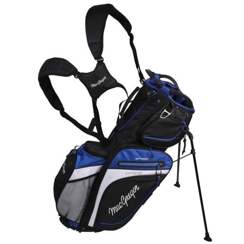 MacGregor Golf Hybrid Stand / Cart Golf Bag with 14 Way Divider, Black/Blue