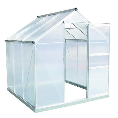 OPEN BOX Palm Springs 6ft x 6ft Aluminum Walk in Greenhouse