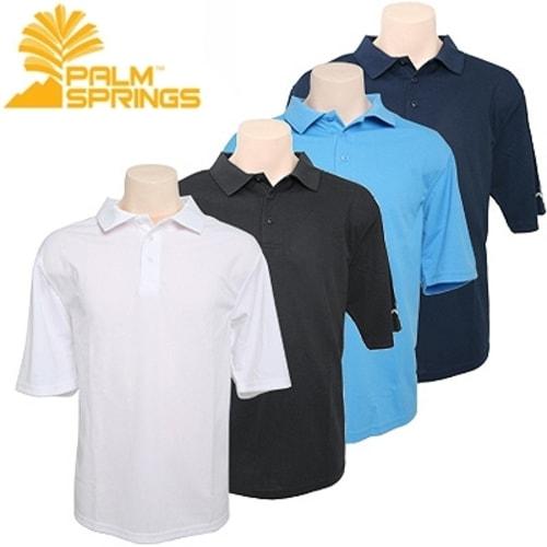 OPEN BOX Palm Springs Plain Polo Shirts 4 pack
