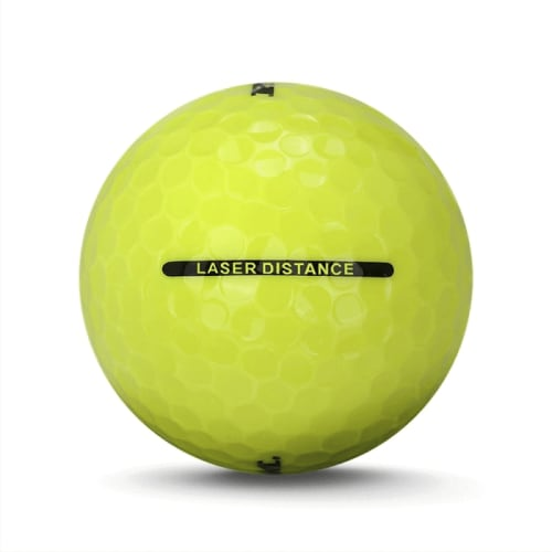 36 RAM Golf Laser Distance Golf Balls - Yellow - Back