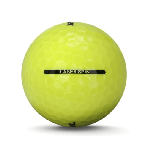 72 RAM Golf Laser Spin Golf Balls - Yellow