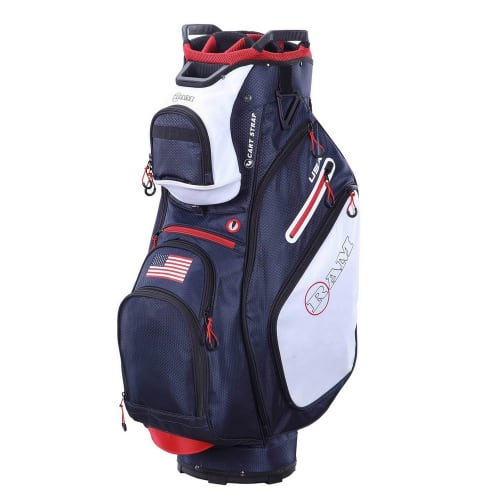 Ram Golf FX Deluxe Golf Cart Bag with 14 Way Full Length Dividers - USA