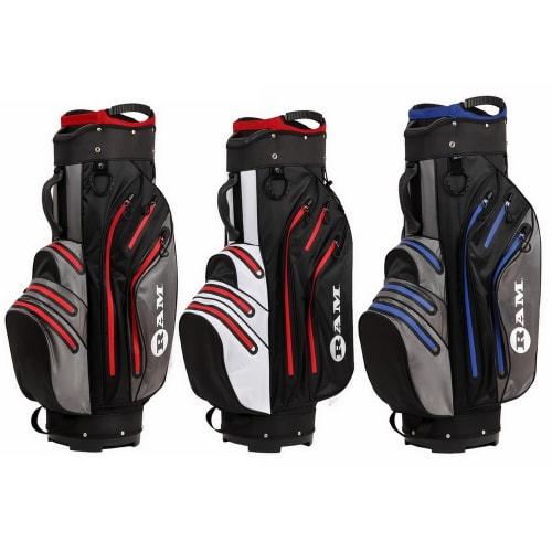 Ram Golf Waterproof Cart / Trolley Bag - 14 Way Club Dividers