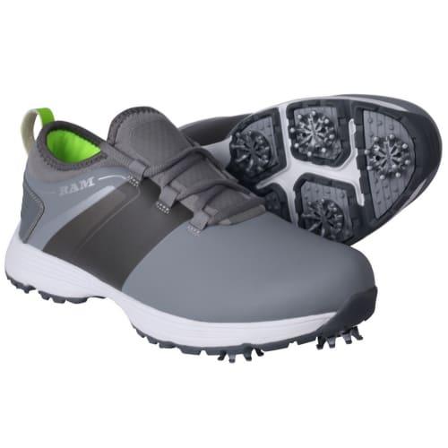 Ram Golf XT1 Mens Waterproof Golf Shoes, Spiked, Grey