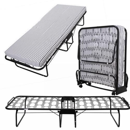 OPEN BOX Homegear Rollaway Heavy Duty Steel Frame Metal Spring Folding Twin Guest Bed
