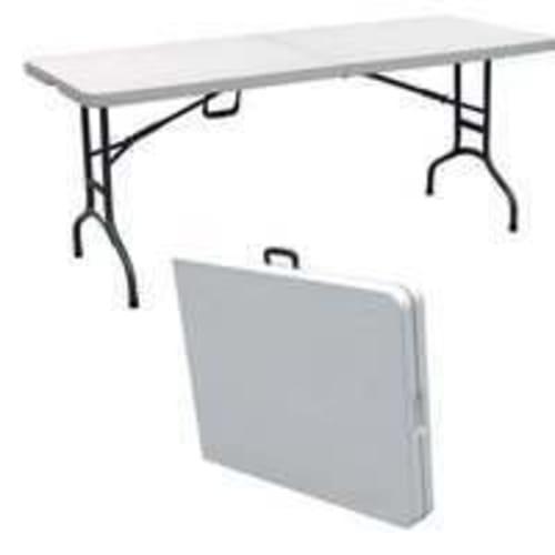Palm Springs Deluxe 6' Folding Portable Table White V2
