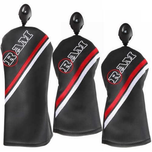 Ram FX Golf Headcover 3pc Set For Driver and 2 Fairway Wood