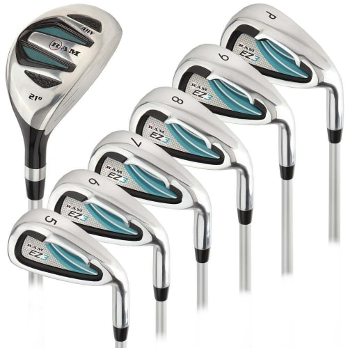 Ram Golf EZ3 Ladies Petite Right Hand Iron Set 5-6-7-8-9-PW - FREE HYBRID INCLUDED