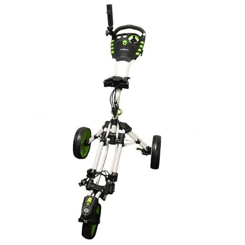 Caddymatic Golf 360° SwivelEase 3 Wheel Folding Golf Cart White/Green