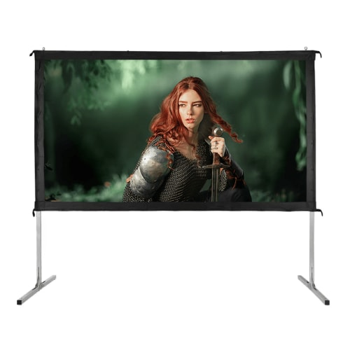 "Homegear Fast Fold Portable 100"" Projector Screen 16:9 HD for Indoor/Outdoor Use"