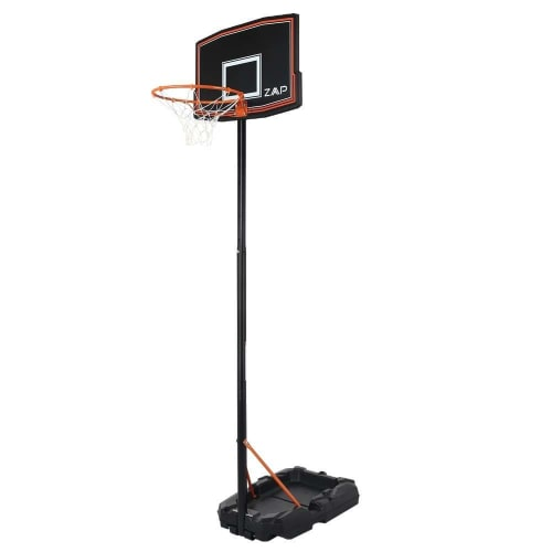 ZAAP Junior Youth Basketball Hoop Outdoor System - Adjustable Height Backboard - Portable with Wheels