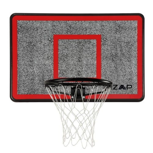 ZAAP Outdoor Wall Mounted Basketball Hoop, Backboard and Net Set