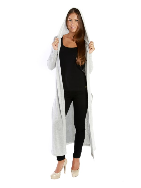 Hatchi Knit body, hooded high slits and loose fit Cardigan - MADE IN USA - All Sizes + Colors