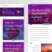 UI design for mobile travel app