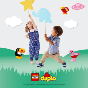 Monty Mornings with LEGO® DUPLO® bricks