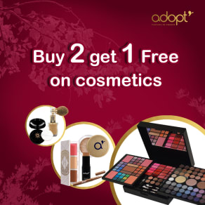 Buy 2, get 1 free on cosmetics