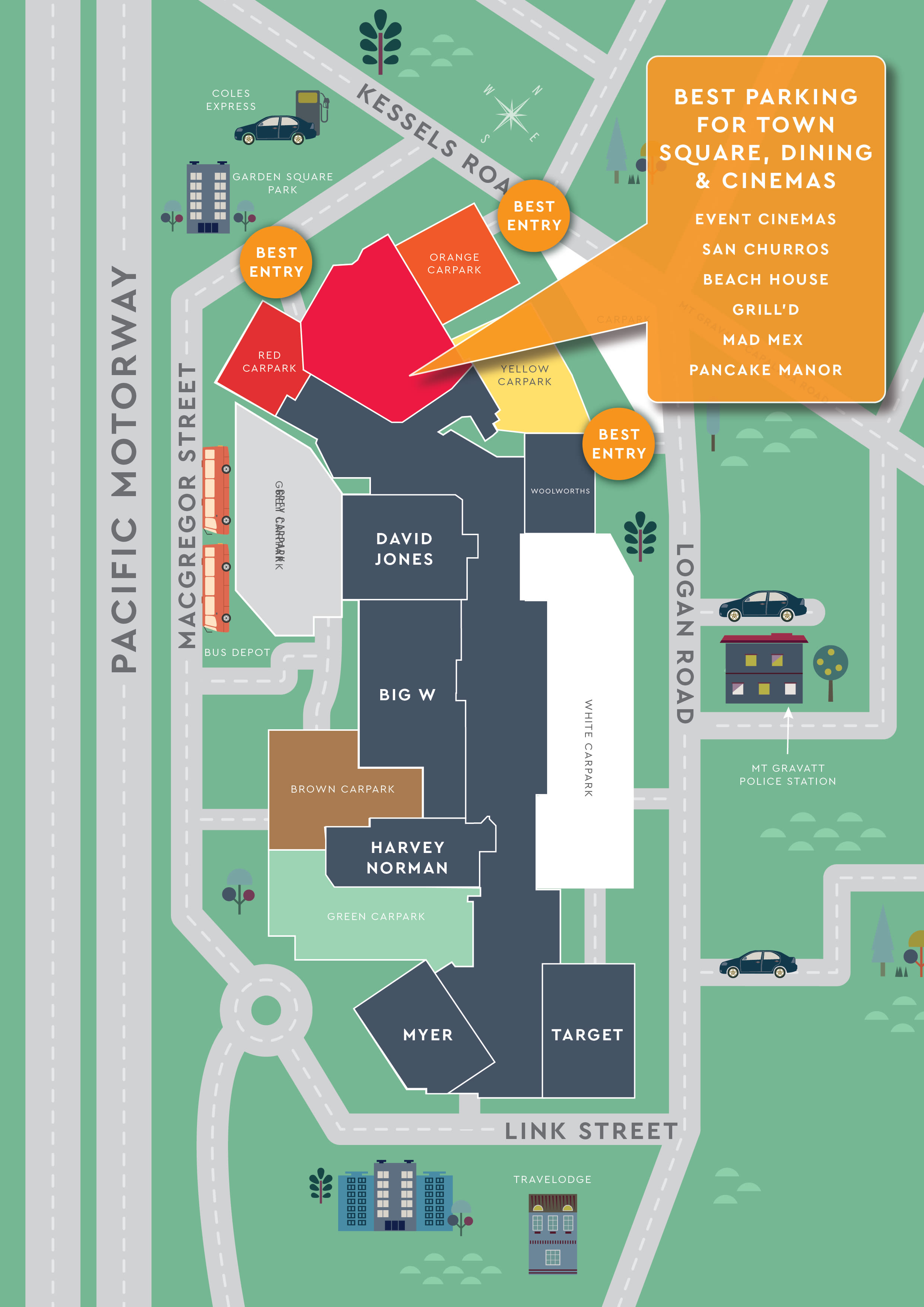Westfield Garden City Parking Parking Rates Amp Fees