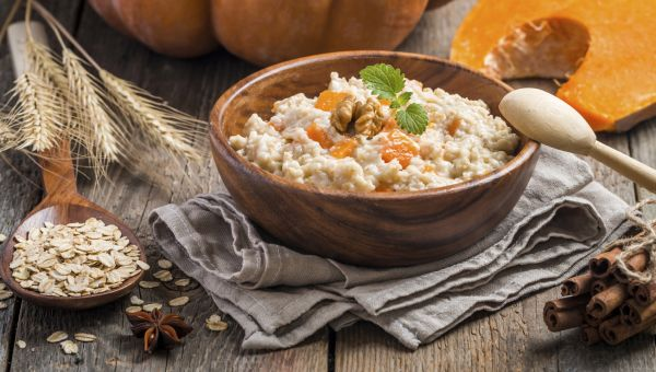 Hearty autumn oatmeal
