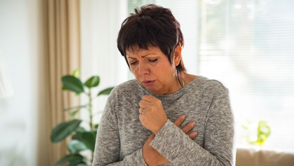 4. Persistent cough, hoarseness of throat