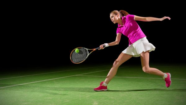 Burn about 700 calories with tennis