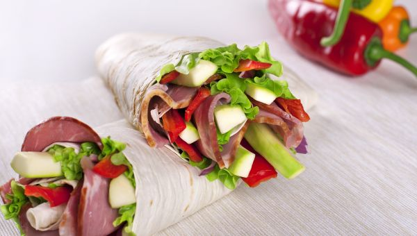 Turkey bacon and apple wrap