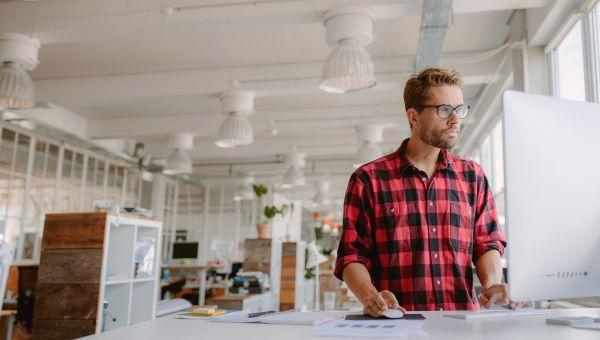 Take standing breaks at work